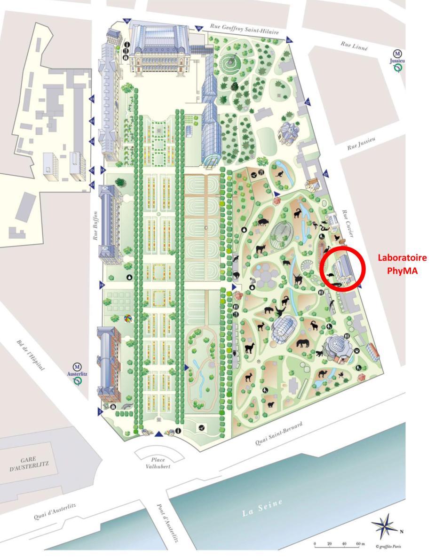 Plan du Jardin des Plantes © MNHN